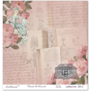 """LaBlanche Papers """"Crystal & Roses"""" 02 Dobbeltsidet 12x12"""""""
