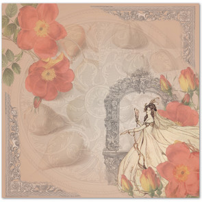 """LaBlanche Papers """"Crystal & Roses"""" 03 Dobbeltsidet 12x12"""""""