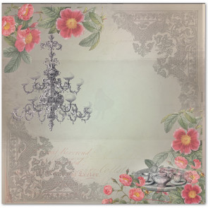 """LaBlanche Papers """"Crystal & Roses"""" 06 Dobbeltsidet 12x12"""""""
