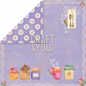 "Craft & You Design My Home Garden Dobbeltsidet Cardstock 12x12"" Paper - 06"