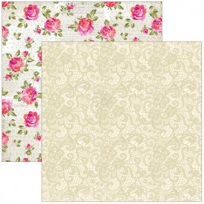 """Marion Smith Design Posh Double Sided Cardstock 12x12"""" - Chic Lace"""