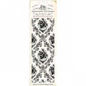 """Something Tattered Wallpaper Background Clear Stamp 3x8"""" - Parlor Rose Damask"""