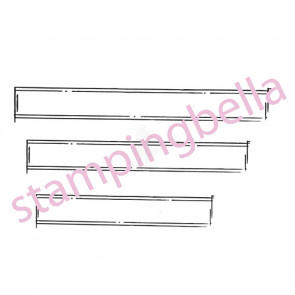 """Stamping Bella Unmounted Rubber Stamp 6.75""""x4.5"""" - Journal Strips"""