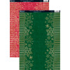 A4 Kanban Baggrund Karton - Christmas Snowflakes - Red Berry & Holly Green - 2 stks