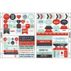 """KaiserCraft Captured Moments Pocket Stickers 6,75x8,5"""" - Christmas Cheer; Red, Blue, Mint & Black"""
