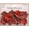 Little Birdie Serenade Blooms Cherry Red 9pcs Vintage Elements